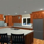 Large Family Kitchen with an Island Design 3b