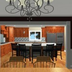 Large Family Kitchen with an Island Design 3d