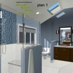Master Bathroom Remodel Plan 1A