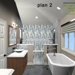 Master Bathroom Remodel Plan 2B