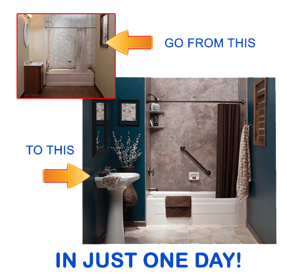 Beau One Day Bathroom Makeovers And Remodeling