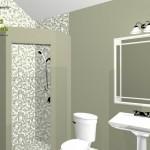 Three Fixture Bathroom Remodel Plan 2B