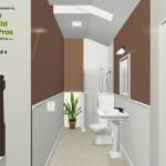 Three Fixture Bathroom Remodel Plan 4B