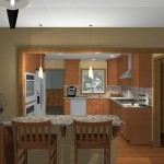 computer aided design of planned kitchen remodel (1)