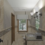 computer aided design of remodel planned for master bathroom (1)