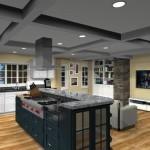 kitchen design with open floor plan to family room Eatontown, nj 07724 (1)