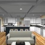 kitchen design with open floor plan to family room Eatontown, nj 07724 (4)