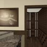 wine room behind wet bar