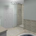 New Jersey master bathroom remodeling design option - Plan 1 (2)
