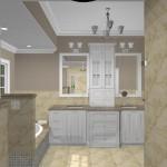 New Jersey master bathroom remodeling design option - Plan 3 (1)