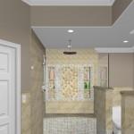 New Jersey master bathroom remodeling design option - Plan 3 (2)