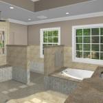 New Jersey master bathroom remodeling design option - Plan 3 (3)