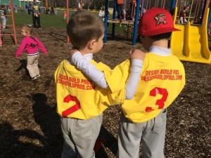 Gavin and Aidan Parsons ready for some baseball