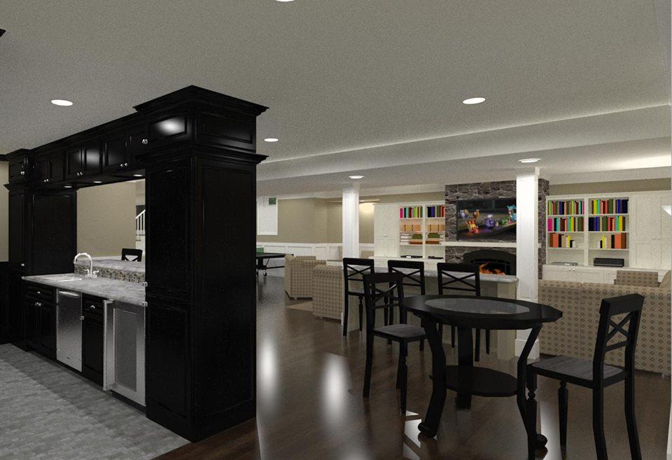 NJ Design Build Contractors - Basement Design