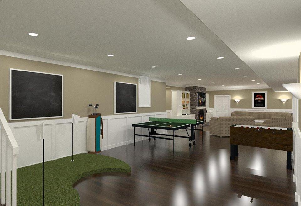 NJ Design Build Contractors - Game Room Design