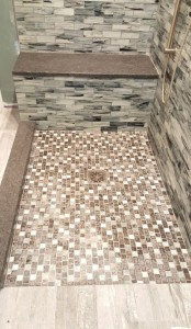Level entry shower system in Monmouth County NJ - Design Build Planners