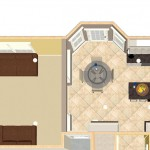 Dollhouse Overview of Kitchen Remodel