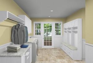 Mud Room and Laundry room design ideas (6)