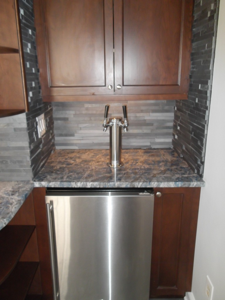 kegerator for wet bar - Design Build Planners