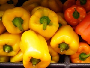 Yellow and Orange peppers