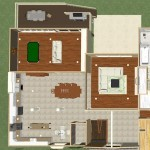 Dollhouse Overview of Watchung New Jersey Remodel (2)-Design Build Planners