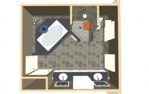 Dollhouse Overview of a Bathroom and Shower Makeover in Wall NJ
