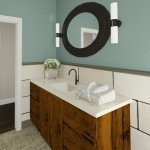 Plan 1 CAD bathroom sink view