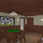 CAD of a Cigar Room in Monmouth County NJ (2)-Design Build Planners