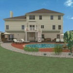 Computer Aided Design of an Exterior Remodel Raised Deck Terrace (2)-DesignBuildPros