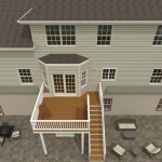 Computer Aided Design of an Exterior Remodel Raised Deck Terrace (3)-DesignBuildPros