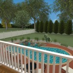 Computer Aided Design of an Exterior Remodel Raised Deck Terrace (6)-DesignBuildPros