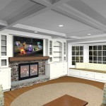 Conceptual Overview Plan of a Bridgewater New Jersey Fireplace Area (2)-Design Build Planners