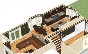 Dollhouse Overview of Kitchen Remodeling Project in New Brunswick New Jersey (1)-Design Build Planners