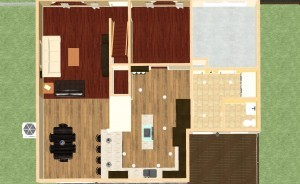 Dollhouse Overview of a Kitchen and Mudroom Remodel in NJ-Design Build Planners