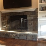 Nearly Finished Fireplace Area in Bridgewater New Jersey (2)-Design Build Planners