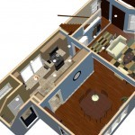 Plan Two Dollhouse Overview of a Small Kitchen Remodel in Bergen County NJ (1)-Design Build Planners