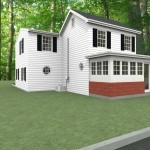 Exterior of a Bedroom and Bathroom Addition  in Ocean County (2)-Design Build Planners