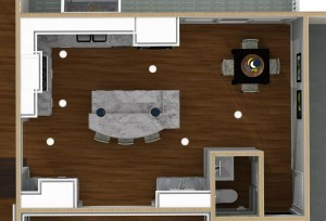 Dollhouse Overview of Kitchen Remodeling Designs in Warren -Design Build Planners