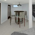 CAD of Bar Area Plan 2 Basement Finishing Options in Warren (2)-Design Build Planners