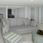 CAD of Bar and Game Area Plan 2 Basement Finishing Options in Warren (1)-Design Build Planners