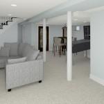CAD of Plan 2 Basement Finishing Options in Warren (1)-Design Build Planners