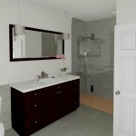 CAD of a Basement Bathroom in Millstone NJ (2)-Design Build Planners