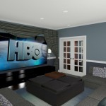 CAD of a Media Room in Millstone NJ (1)-Design Build Planners