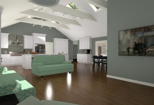 Ceiling with Exposed Beams (1)-Design Build Planners