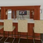 Computer Aided Design of Bar Plan 3 Basement Finishing in Warren NJ (2)-Design Build Planners