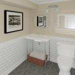 Computer Aided Design of Bathroom Plan 3 Basement Finishing in Warren NJ (1)-Design Build Planners