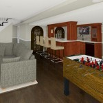 Computer Aided Design of Family Room Plan 3 Basement Finishing in Warren NJ (2)-Design Build Planners