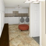 Computer Aided Design of Laundry Room Plan 3 Basement Finishing in Warren NJ (2)-Design Build Planners