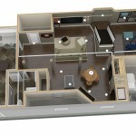 Dollhouse Overview of Plan 1 Basement Finishing (2)-Design Build Planners
