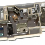 Dollhouse Overview of Plan 1 Basement Finishing-Design Build Planners